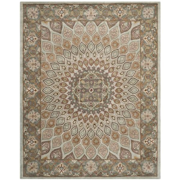 Safavieh Handmade Heritage Timeless Traditional Blue/ Grey Wool Rug - 9' x 12'