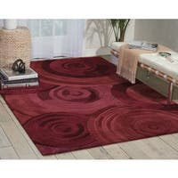 kathy ireland Palisades Architectural Ovation Plum Area Rug by Nourison - 8' x 10'6
