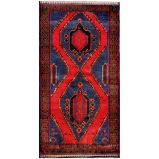 Herat Oriental Afghan Hand-knotted Tribal Balouchi Wool Area Rug (3'9 x 7')