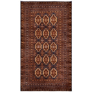 Herat Oriental Afghan Hand-knotted Tribal Balouchi Wool Area Rug (3'9 x 6'8)