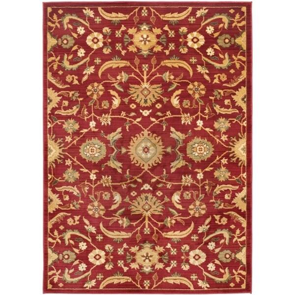 Shop Safavieh Oushak Heirloom Traditional Red Gold Rug