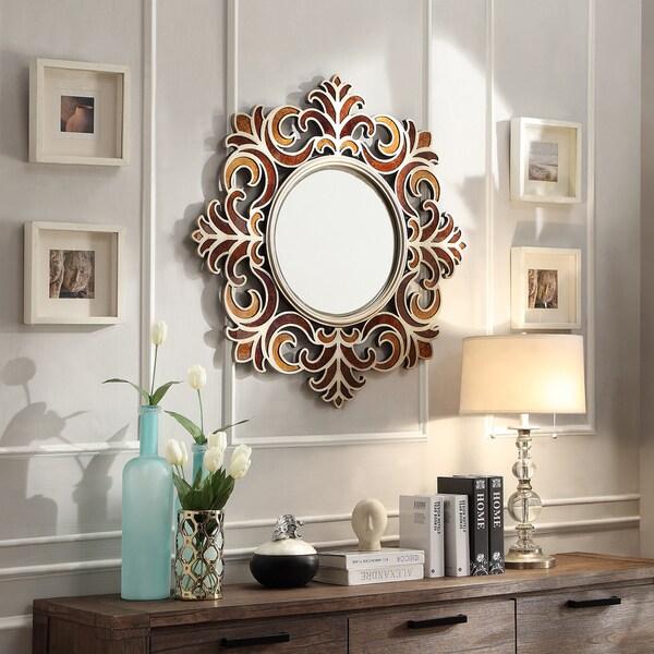 Kiona Roccoco Frame Bronze Finish Accent Wall Mirror