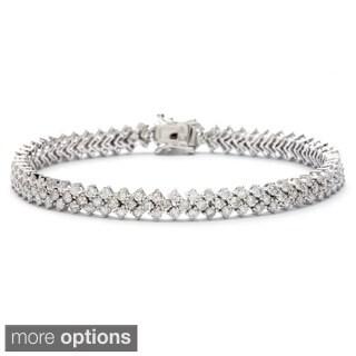 14k White Gold 5 3/5ct TDW Diamond Bracelet