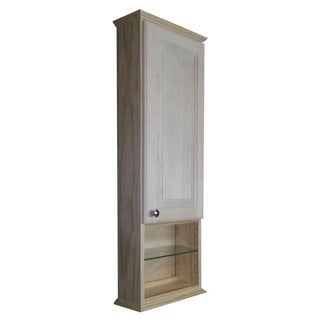 Ashley Series 42x5.5-inch Unfinished Wood Wall Cabinet