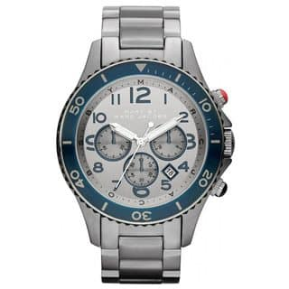 Marc Jacobs Men's 'Rock Chrono' Stianless Steel Chronograph Watch|https://ak1.ostkcdn.com/images/products/8379836/8379836/Marc-Jacobs-Mens-Rock-Chrono-Stianless-Steel-Chronograph-Watch-P15684231.jpg?impolicy=medium