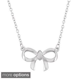 La Preciosa Sterling Silver Bow Necklace
