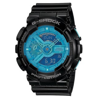 Casio G-Shock Men's Blue Dial and Black Resin Strap Watch