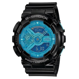 Casio G-Shock Men's Blue Dial and Black Resin Strap Watch (Option: Blue)