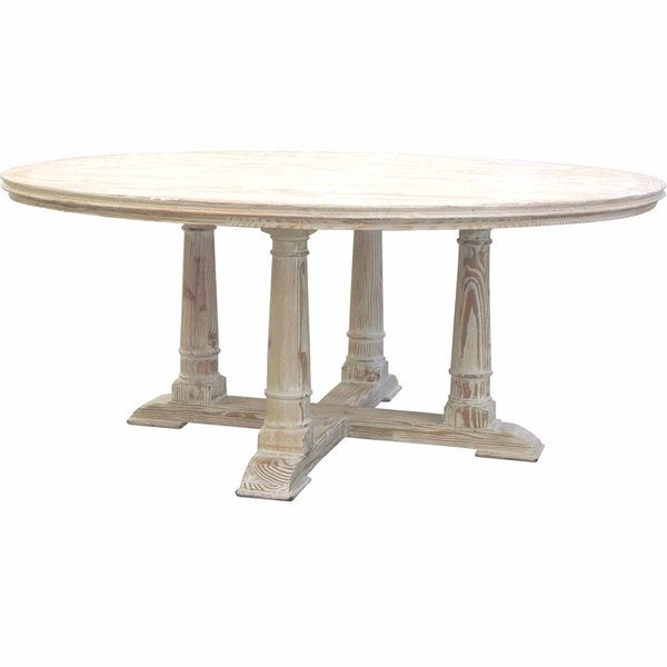 Victoria reclaimed wood round dining table free shipping for Dining room tables home goods