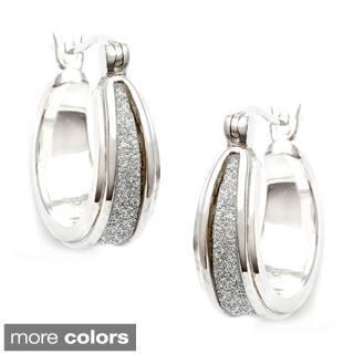 La Preciosa Sterling Silver Sparkle Center Earrings|https://ak1.ostkcdn.com/images/products/8379858/La-Preciosa-Sterling-Silver-Sparkle-Center-Earrings-P15684227A.jpg?impolicy=medium