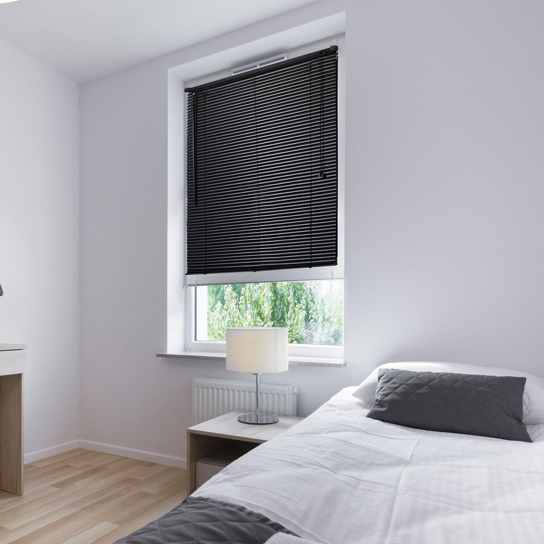 lewis hyman vinyl black mini window blinds 70x64 pvc