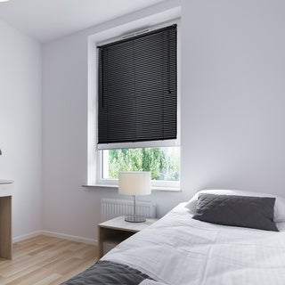 Lewis Hyman Vinyl Black Mini Window Blinds