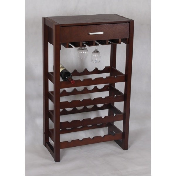 Shop Cappuccino 20-bottle Storage Wine Rack Cabinet With