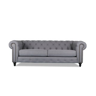 Patrick Chesterfield Tufted Premium Linen Sofa