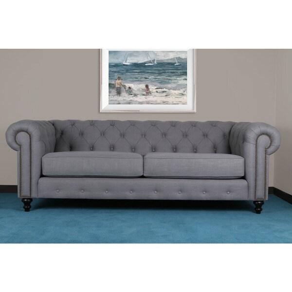 Patrick Tufted Premium Linen Sofa