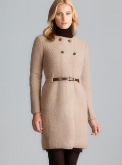 Massimo Rebecchi Double Breasted Belted Knit Coat