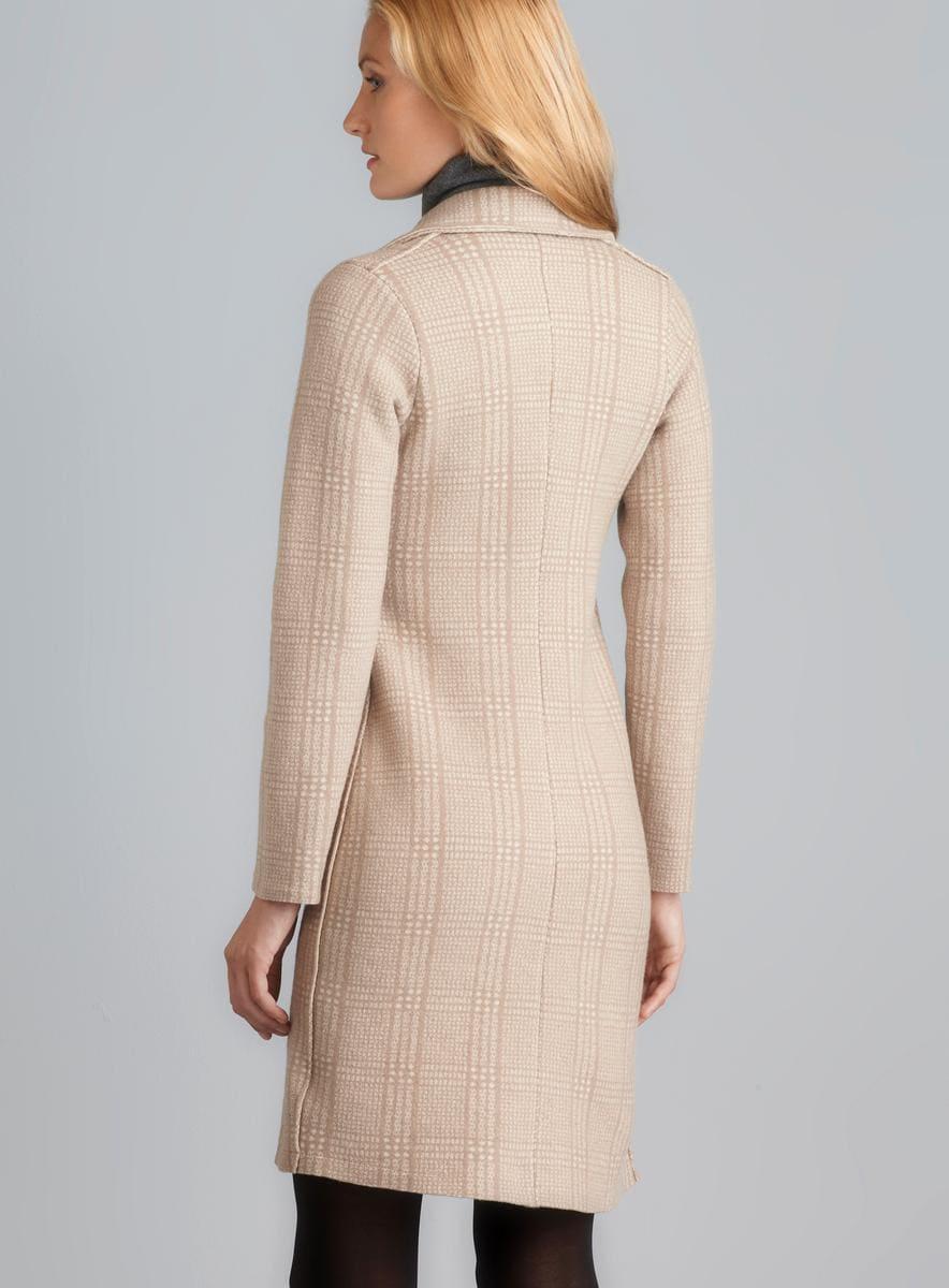 Massimo Rebecchi Two Pocket Button Down Plaid Wool Coat