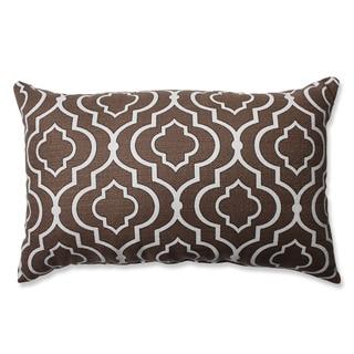 Pillow Perfect Donetta Chocolate Rectangular Throw Pillow