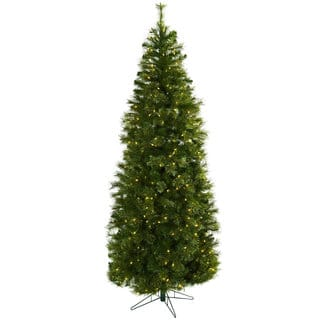 cashmere slim 75 foot christmas tree with clear lightshttpsak1 - Natural Christmas Tree