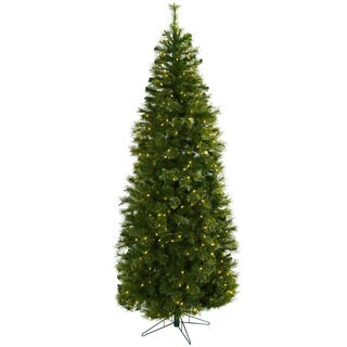 Link to Cashmere Slim 7.5-foot Christmas Tree with Clear Lights Similar Items in Christmas Greenery