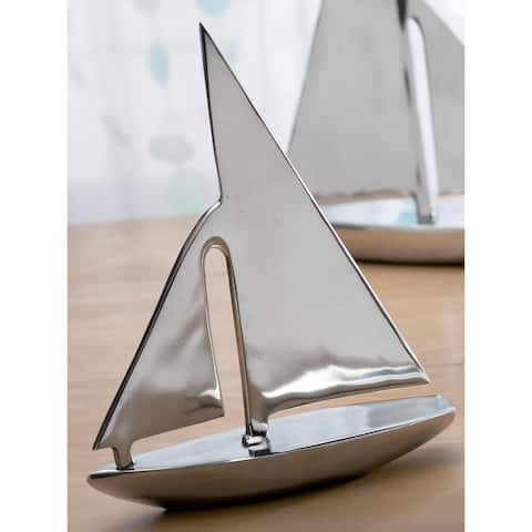Decorative Aluminum 15-inch Sail Boat
