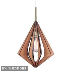 Canopy 1-Light Foresee Wood Slat Mini Pendant
