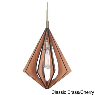 Canopy 1-Light Foresee Wood Slat Mini Pendant