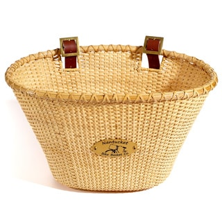 Nantucket Bicycle Basket Co. Lightship Adult Oval Natural Bicycle Basket