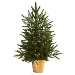2.5-foot Christmas Tree with Planter and Clear Lights|https://ak1.ostkcdn.com/images/products/8380788/8380788/2.5-foot-Christmas-Tree-with-Planter-and-Clear-Lights-P15684973.jpg?impolicy=medium