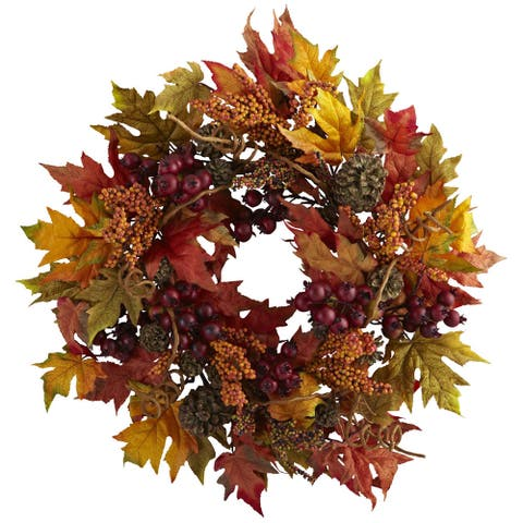 Maple and Berry 24-inch Wreath