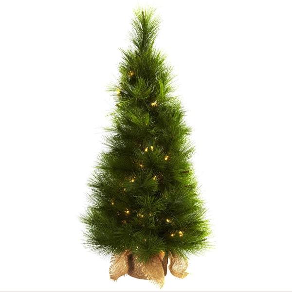 3 foot christmas tree with lights fiber optic 3foot christmas tree with burlap bag and clear lights shop free