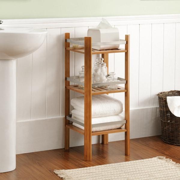 Shop Altra Bamboo Bathroom Shelves Tower - Free Shipping Today ...