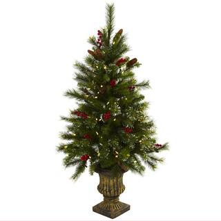 4-foot Berries, Pine Cones, LED Lights and Decorative Urn Christmas Tree|https://ak1.ostkcdn.com/images/products/8380872/8380872/4-foot-Berries-Pine-Cones-LED-Lights-and-Decorative-Urn-Christmas-Tree-P15685142.jpg?impolicy=medium