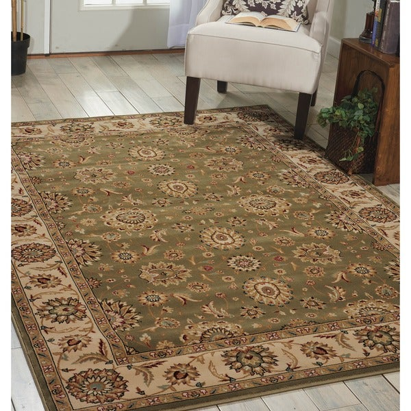 Nourison Persian Crown Green Rug - 5'3 x 7'4