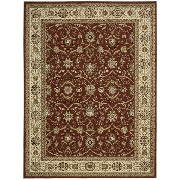 Nourison Persian Crown Brick Rug (9'3 x 12'9) - 9'3 x 12'9