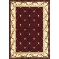Domani Elegance Red Fleur-De-Lis (1'8 x 2'7)