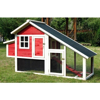 Merry Products Red Habitat Chicken Coop