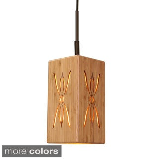 Light House 1-Light Symmetry Bamboo Mini Pendant