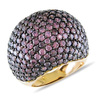 Miadora Signature Collection 18k Yellow Gold Rhodolite Dome Ring