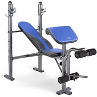 Pure Fitness Multi Purpose Mid Width Weight Bench - Blue/Black - N/A