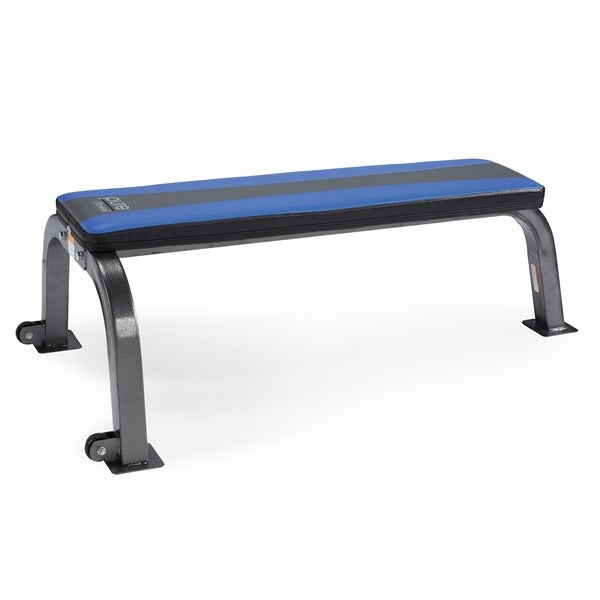 Pure Fitness Flat Bench Weight Bench - Blue/Black - N/A