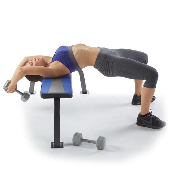 Awesome Shop Pure Fitness Flat Bench Workout Bench Weight Bench With Creativecarmelina Interior Chair Design Creativecarmelinacom