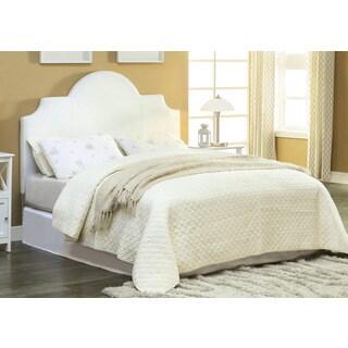 Furniture of America Veer Modern White Twin Leatherette Headboard