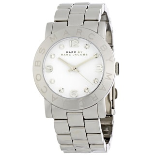 Marc Jacobs Amy Women's Stainless Steel White Dial Watch
