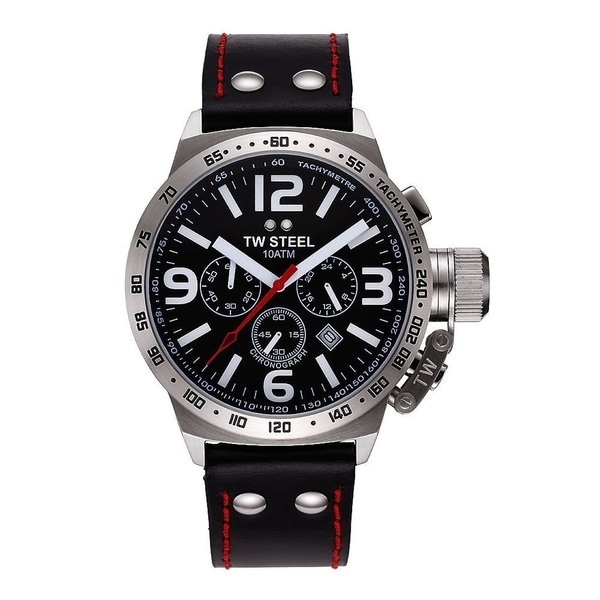 TW Steel Men's 'Canteen' Stainless Steel Chronograph and Tachymeter TW11 Watch