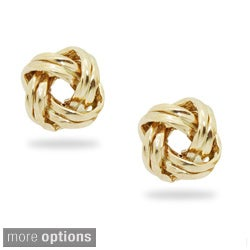 Gioelli 14k Gold Twisted Love Knot Stud Earrings