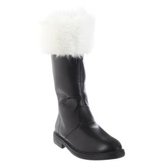 Funtasma Men's 'Santa-100' Black Mid-calf Fur Collar Boots