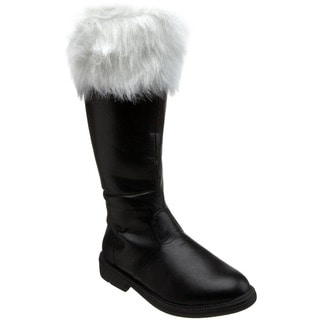 Funtasma Men's 'Santa-108' Black Knee-high Fur Collar Boots