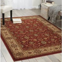 Persian Crown Brick Area Rug - 5'3 x 7'4