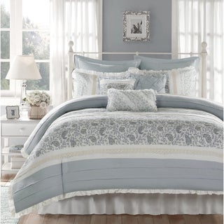 The Grey Barn Sleeping Hills Blue 9-piece Cotton Percale Duvet Set (3 options available)